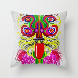 Maya lion Throw Pillow