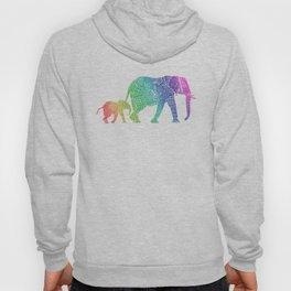Rainbow Zentangle Elephant Hoody