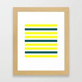 Yellow Green Lines Framed Art Print