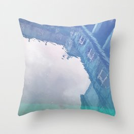 Curses: Blue Lagoon Throw Pillow
