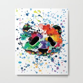Splash panda Metal Print