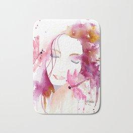 Pink Woman Bath Mat