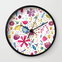 Autumn Hedgerow Wall Clock