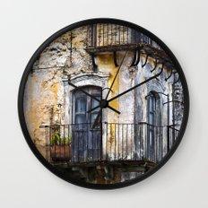 Urban Sicilian Facade Wall Clock