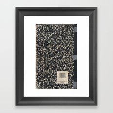 Notebook Framed Art Print