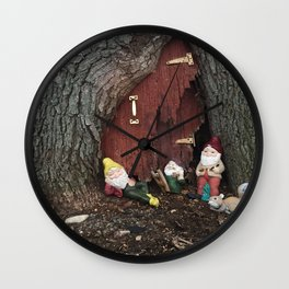 No Place Like Gnome  Wall Clock