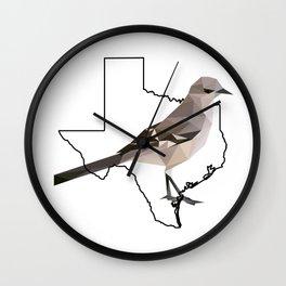 Texas – Northern Mockingbird Wall Clock