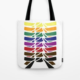 Karate belt rainbow stages success gift Tote Bag