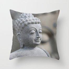 Buddha Stone Throw Pillow