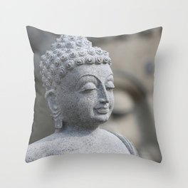 Buddha Stone Throw Pillow