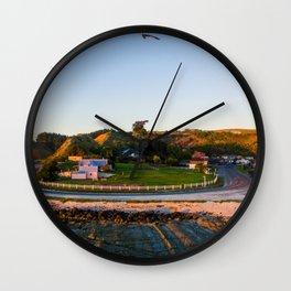 kaikoura warf sunrise mountains colors new zealand bird Wall Clock