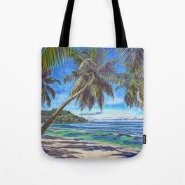Tropical island beach Tote Bag