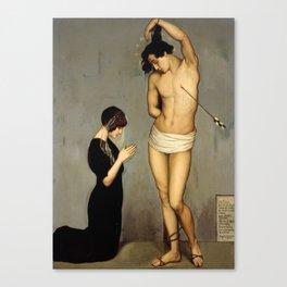 Votive Offering, Saint Sebastian, by Ángel Zárraga Canvas Print