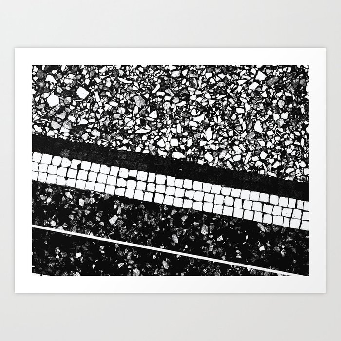Terrazzo pattern black white 1 texture decor art society6 art