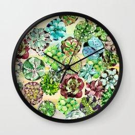 Succulents,Desert vibes Wall Clock
