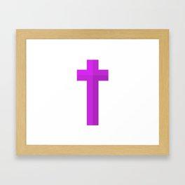 Christian Cross Framed Art Print