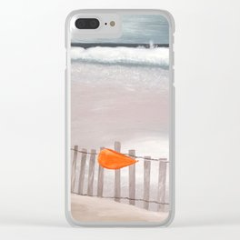 Winter Beach Clear iPhone Case