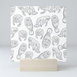 Manatees - Ultimate Gray Mini Art Print