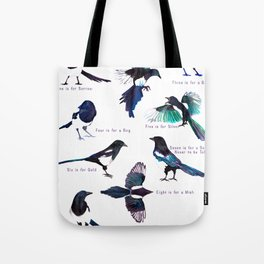 The Magpie Rhyme Tote Bag