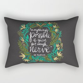 Anything's Possible on Charcoal Rectangular Pillow