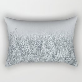 snow  forest winter trees Rectangular Pillow