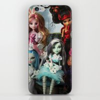 monster high iPhone & iPod Skins featuring We're All Mad Monster High Dolls MHSQ by Renée