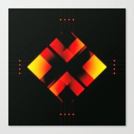 Fire Element Zer0 Canvas Print