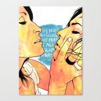 girls Canvas Prints featuring Girls by KVNCHRLZ