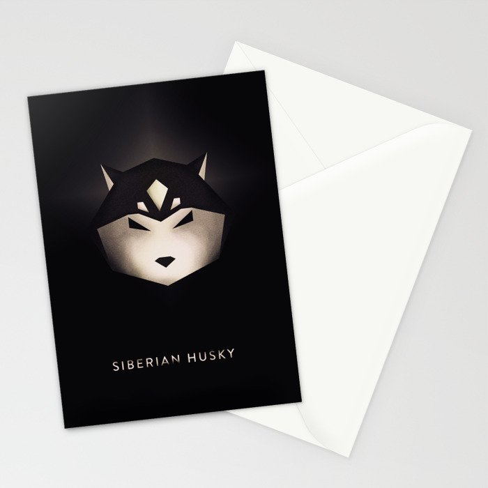 Siberian Husky 3 Stationery Cards