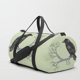 Raven pen drawing Duffle Bag