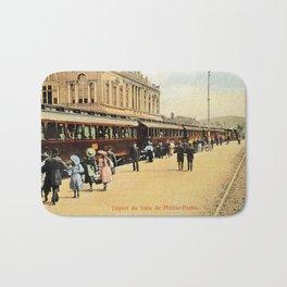 1900s Haydarpasa railroad station, train Bath Mat