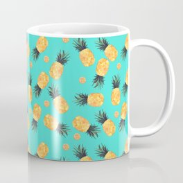 Tropical Pineapple Summer Pattern Coffee Mug