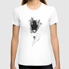 Pure Morning Womens Fitted Tee White MEDIUM