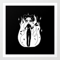 devil Art Prints featuring ▴ devil ▴ by PIXIE ❤︎ PUNK