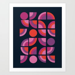 Outta Sight - 70s retro throwback trendy vintage style geometric 1970's Art Print