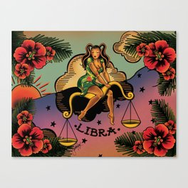 Tattoo Libra Canvas Print