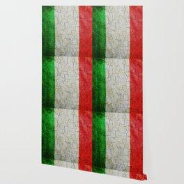 Cracked Italy flag Wallpaper