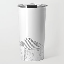 Dublin, Ireland Skyline B&W - Thin Line Travel Mug
