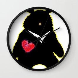 Bear with (V)ictory Wall Clock