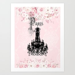 Paris Chandelier Art Print