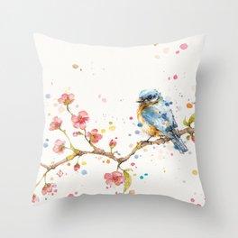 Little Journeys (BlueBird) Throw Pillow