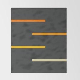 Abstract Minimal Retro Stripes Ashtanga Throw Blanket