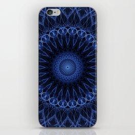Deep blue ocean mandala iPhone Skin