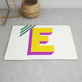Letter E Rug