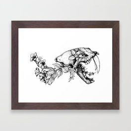 Prehistoric Bloom - The Cat Framed Art Print