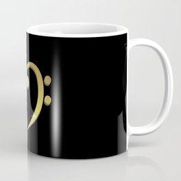 Treble clef, bass clef music heart love Coffee Mug