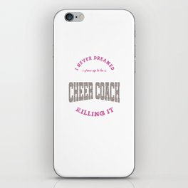Cool Super Cute Cheer Cheerleading Awesome Coach Gifts iPhone Skin