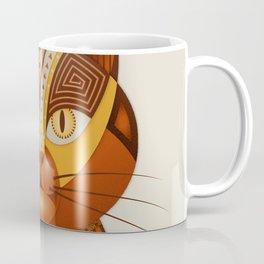 The Geocat, digital geometrical illustration Coffee Mug