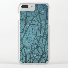 Long Winters Night Clear iPhone Case