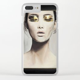 Golden Eyes Clear iPhone Case